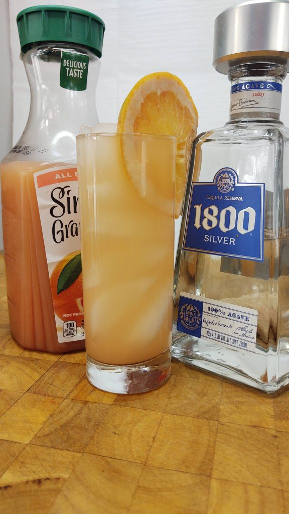 tequila and grapefruit