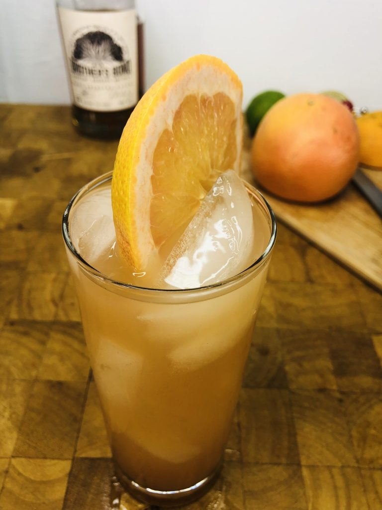 whiskey and grapefruit